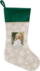 metallic snowflakes christmas stocking