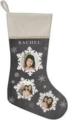 whimsical snowflakes christmas stocking