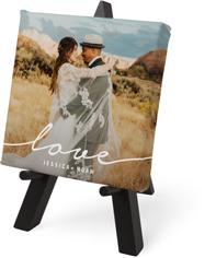 modern love script tabletop canvas print