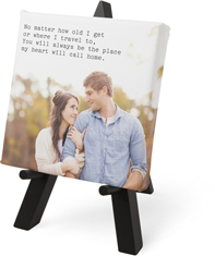 gallery of one text tabletop canvas print