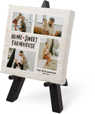 home sweet farmhouse tabletop canvas print