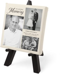 loving memory collage tabletop canvas print