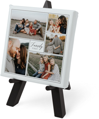 family first script tabletop canvas print