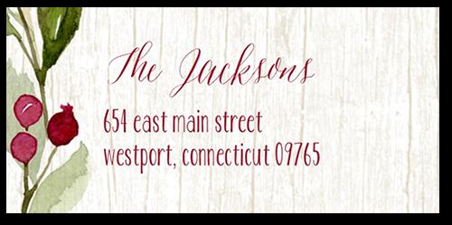 Wintery Wreath Address Label