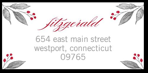 Shining Merry Address Label