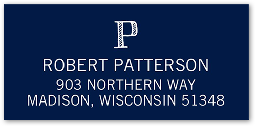 Adventurous Monogram Address Label