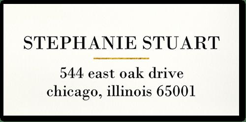Elegant Shimmer Address Label