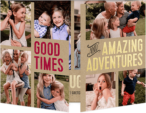 Adventurous Moments Holiday Card, Square Corners