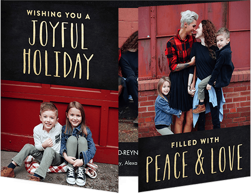 Joyful Peace Holiday Card, Square Corners