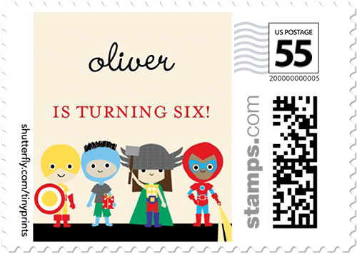 Heroic Party Personalized Postage Stamps