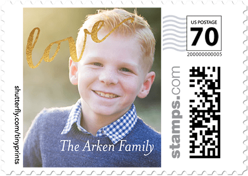 Shining Script Personalized Postage Stamps