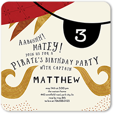 Birthday Invitation From 139 Ahoy Captain