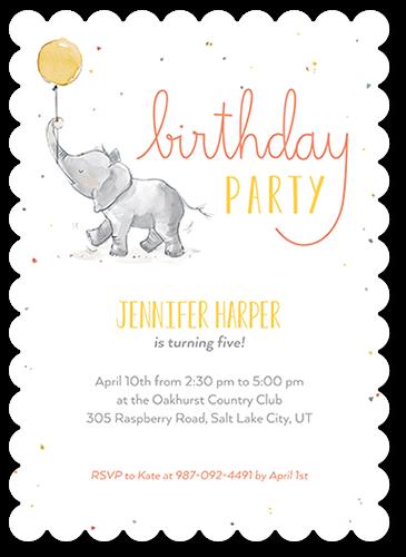 Whimsical Confetti Birthday Invitation