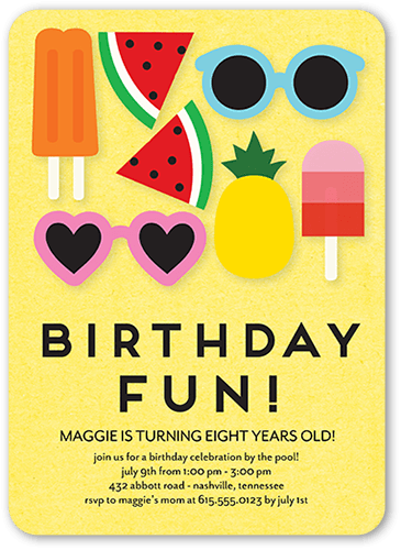 Summer Splendor Birthday Invitation