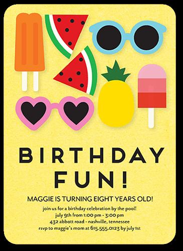9th Birthday Invitations