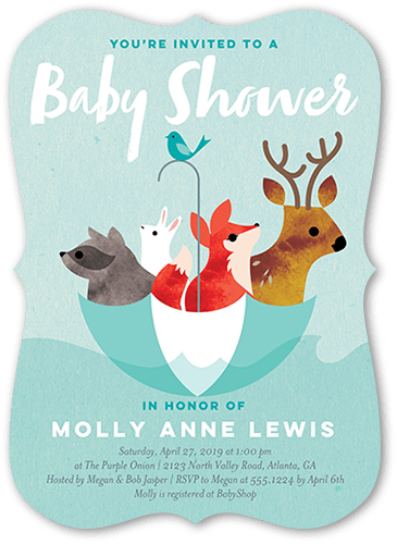 Flooded With Love Baby Shower Invitation, Bracket Corners
