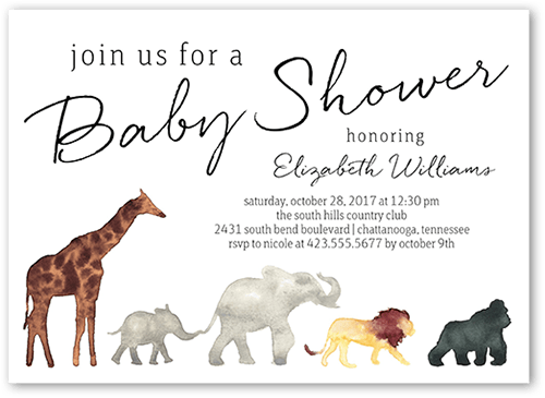 Fall In Line 5x7 Unique Baby Shower Invitations Tiny Prints