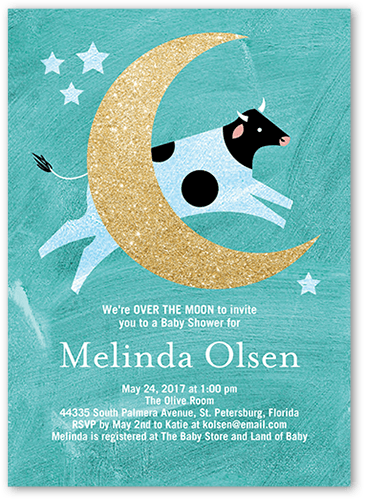 radiant moon 5x7 unique baby shower invitations tiny prints