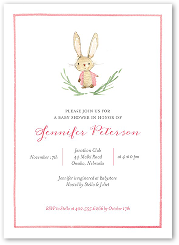 Storybook Shower Girl Baby Shower Invitation, Square Corners