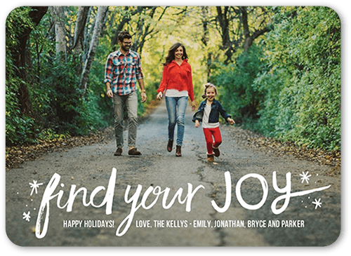 Find Your Joy Holiday Card, Rounded Corners