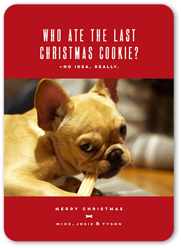Last Cookie Holiday Card, Rounded Corners