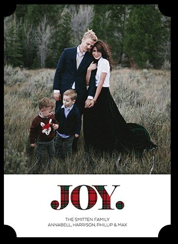 Joyously Plaid Holiday Card, Ticket Corners