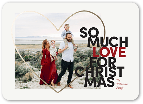 Bountiful Love Holiday Card, Rounded Corners
