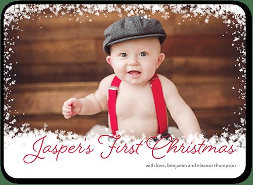 Frosty Festivity Holiday Card, Rounded Corners