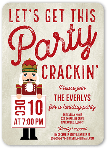 Crackin Party Holiday Invitation, Rounded Corners