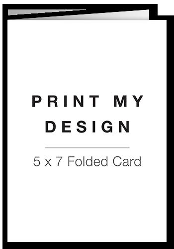 Print My Design Birth Announcement, Square Corners