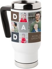 dad color blocks travel mug with handle