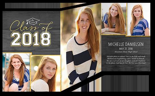 Lifted Grad Graduation Announcement, Square