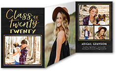 graduation announcement from 127 076 shiny class - Tri Fold Graduation Invitations