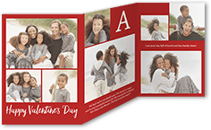 affectionate collage valentines card 5x7 trifold