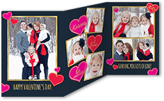 kisses forever valentines card 5x7 trifold