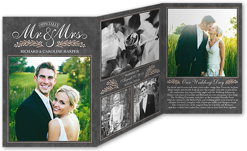 Sweet Vines Story Wedding Announcement