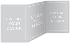 upload your own design christmas card 5x7 trifold