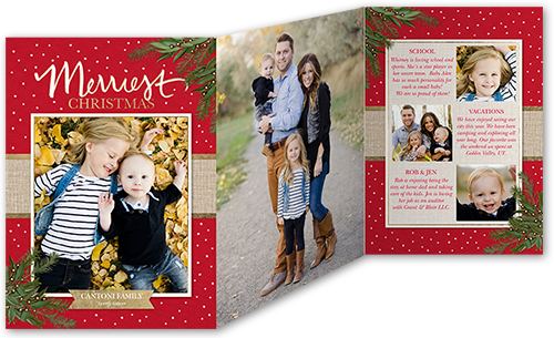 Merriest Foliage Christmas Card