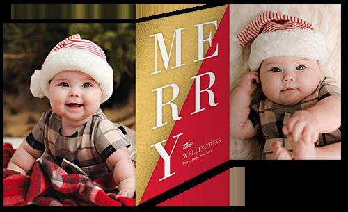Merry Split Christmas Card