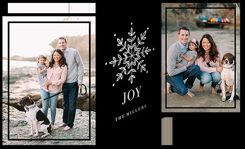 Joyous Snowflake Christmas Card