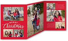 merry greetings grid christmas card 5x7 trifold