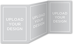 upload your own design custom greeting card 5x7 trifold