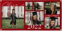 class of collage vinyl banner