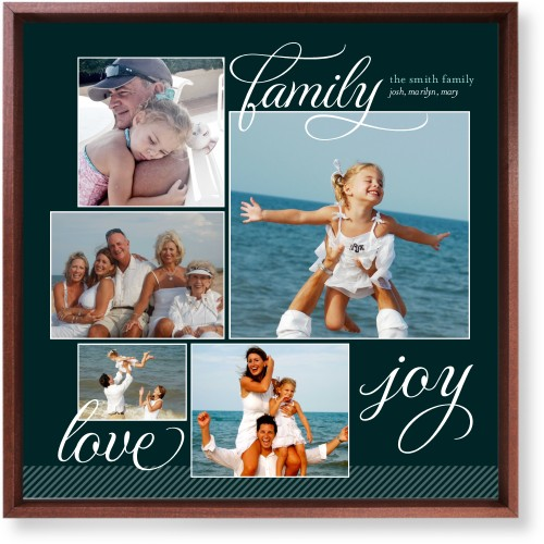 Family Sentiments Mounted Wall Art, Single piece, Brown, 16 x 16 inches, Black