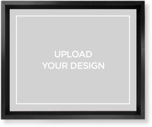 Upload Your Own Design Mounted Wall Art, Single piece, Black, 8 x 10 inches, Multicolor