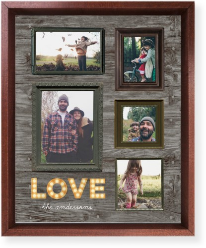 Photo Real Love Mounted Wall Art, Single piece, Brown, 8 x 10 inches, Brown