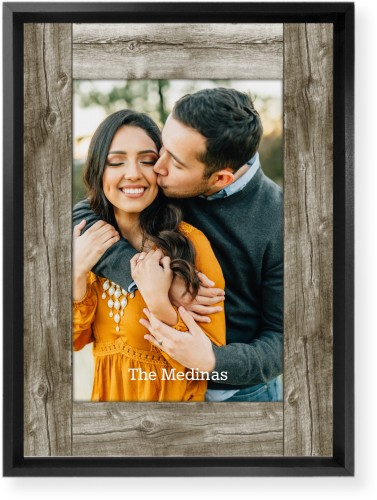 Wood Photo Real Mounted Wall Art, Single piece, Black, 10 x 14 inches, Beige