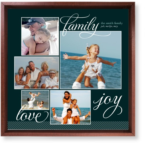Family Sentiments Mounted Wall Art, Single piece, Brown, 12 x 12 inches, Black