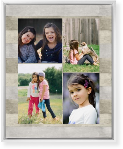 Overlap Photo Gallery of Four Mounted Wall Art, Single piece, White, 16 x 20 inches, Multicolor
