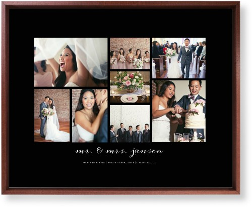 Clean Gallery Collage of Eight Mounted Wall Art, Single piece, Brown, 16 x 20 inches, Multicolor